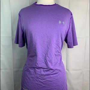 Women's UNDER ARMOUR Purple Fitted T-Shirt Size L